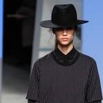 зимняя фетровая шляпа