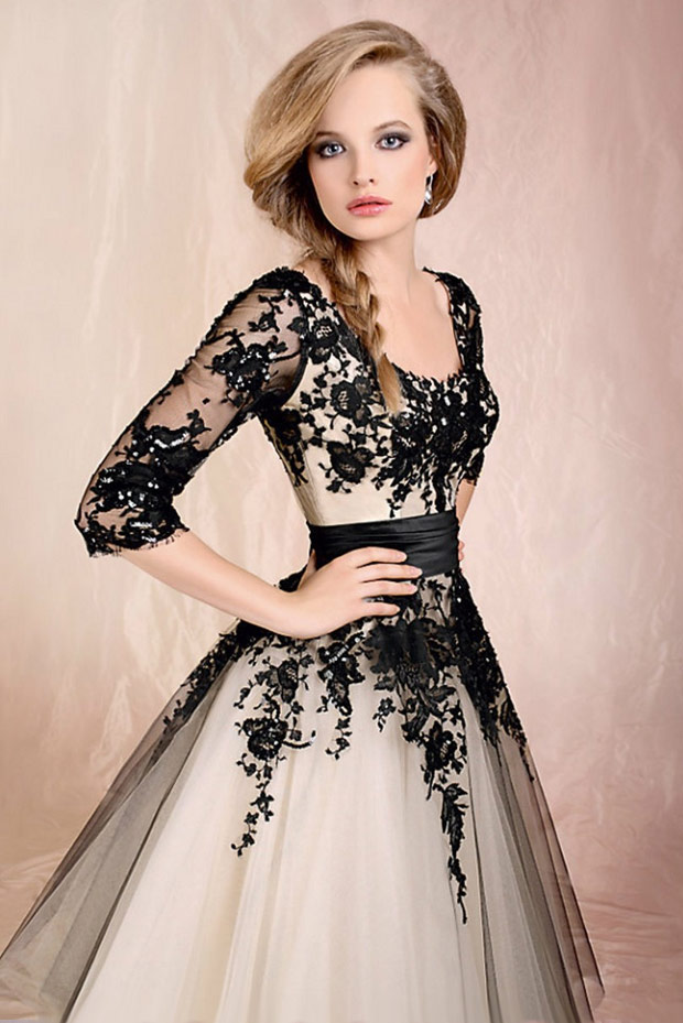 строгое  новогоднее платье
