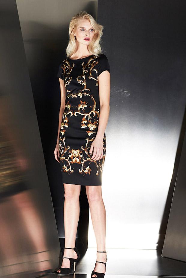 простое новогоднее платье