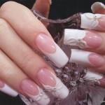 свадебный маникюр розовый