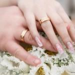 свадебный маникюр бежевый