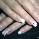 свадебный маникюр для длинные ногти