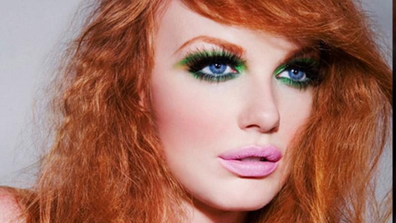 макияжа для голубоглазых брюнеток