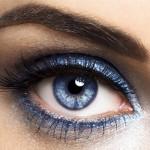 повседневный макияж для голубых глаз