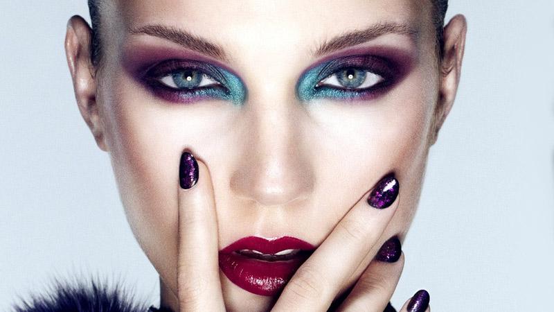 макияж для голубоглазых брюнеток