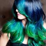 цветное колорирование синим цветом