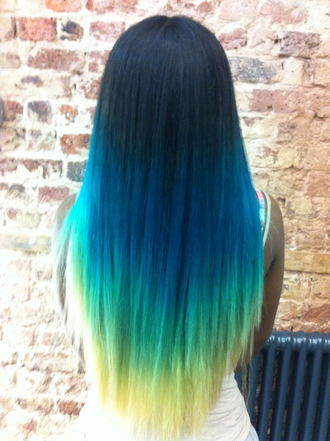 Как покрасить волосы омбре на темные волосы
