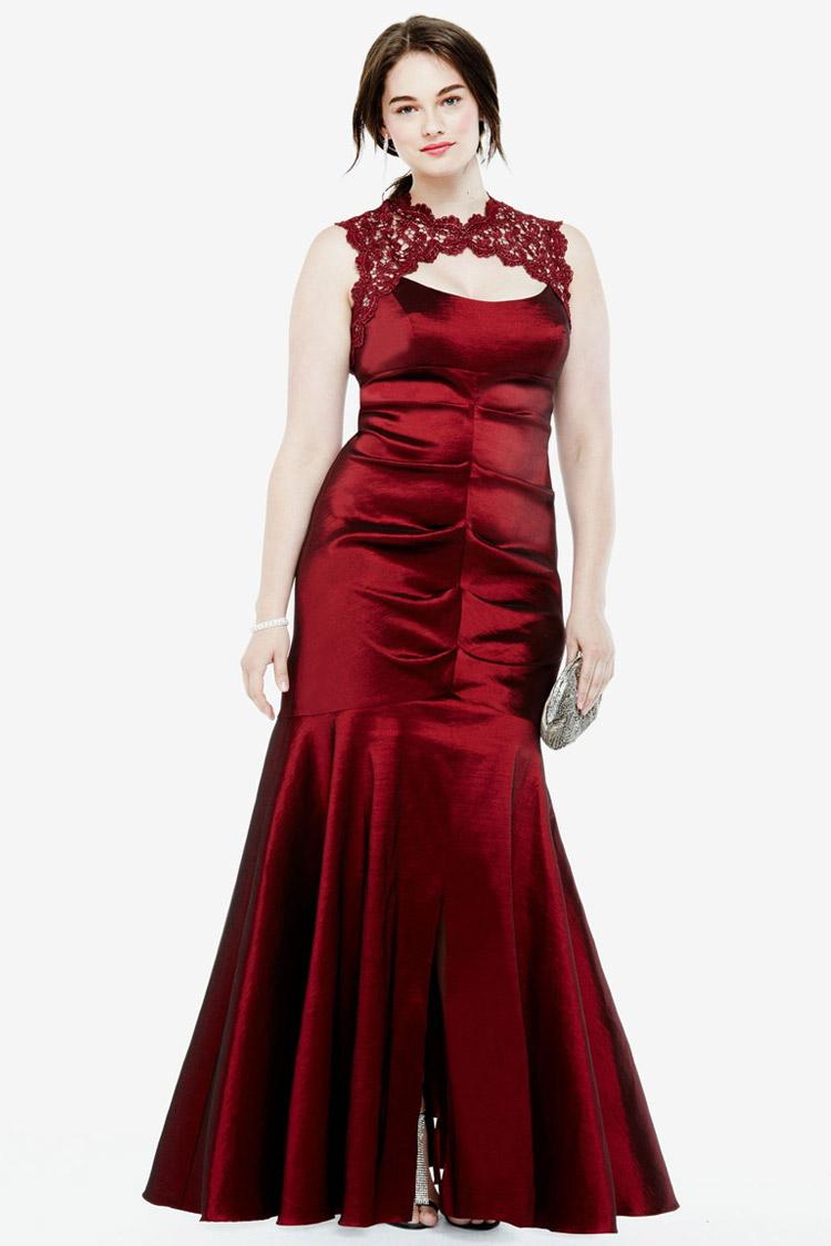 длинное вернее платье