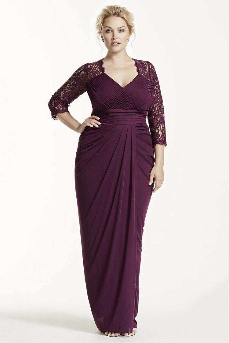 длинное вечернее платье в пол для крупных