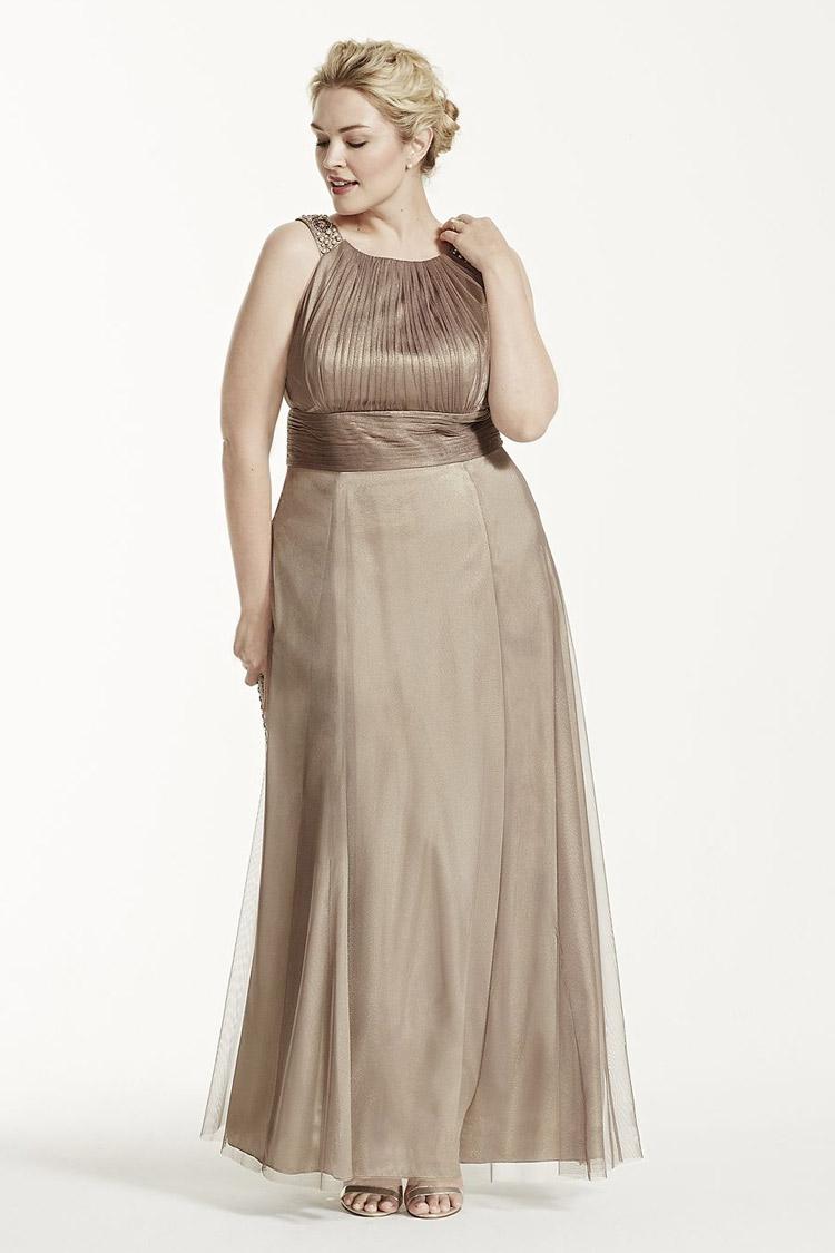 длинное вечернее платье для толстых