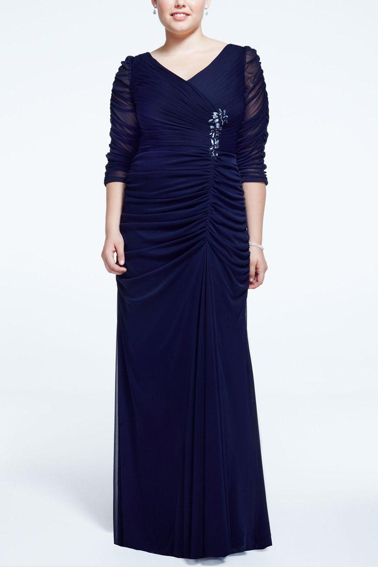 длинное вечернее платье plus size