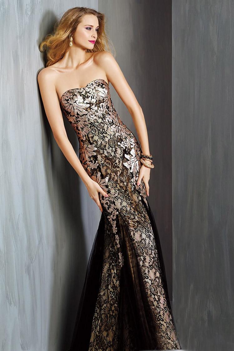 вечернее платье со шлейфом длинное