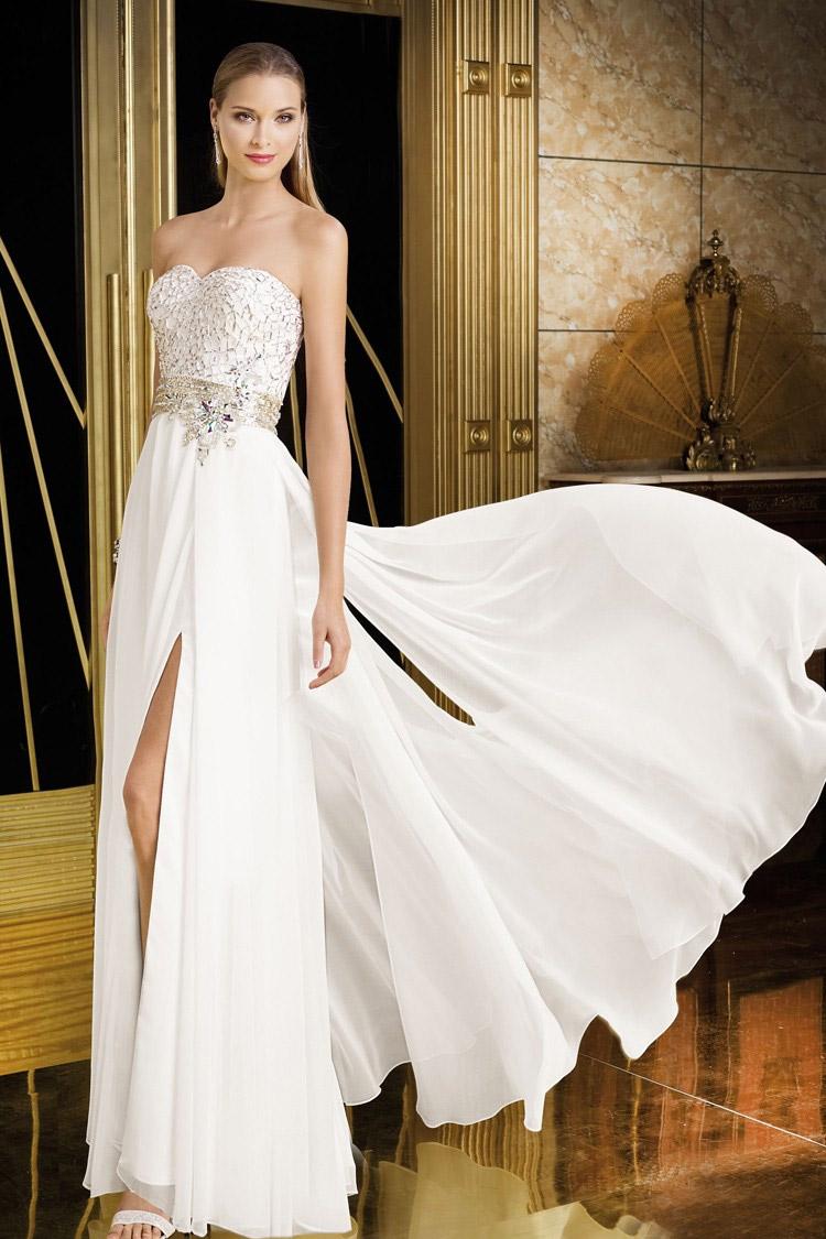 вечернее платье из атласа длинное