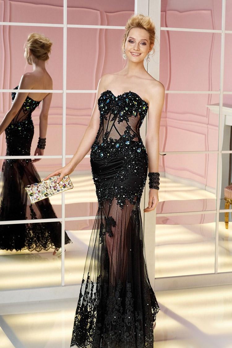 вечернее кружевное длинное платье