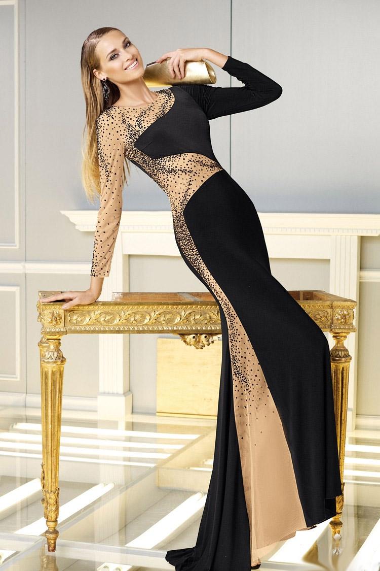 вечернее платье с баской длинное