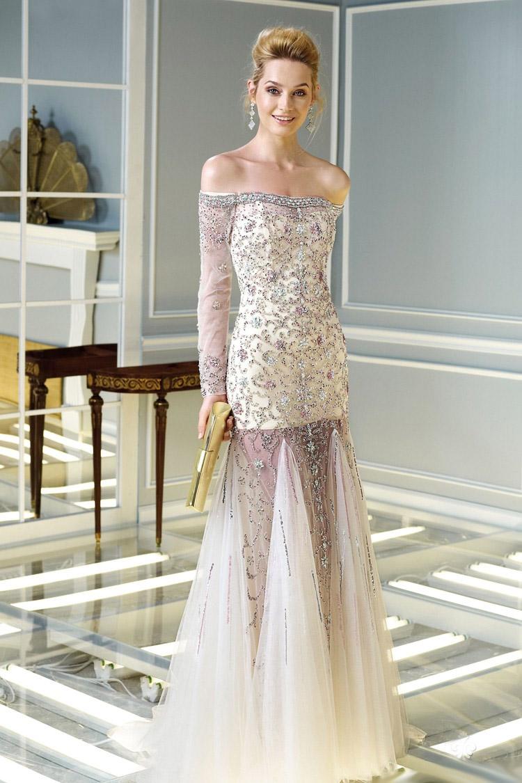 легкое длинное вечернее платье