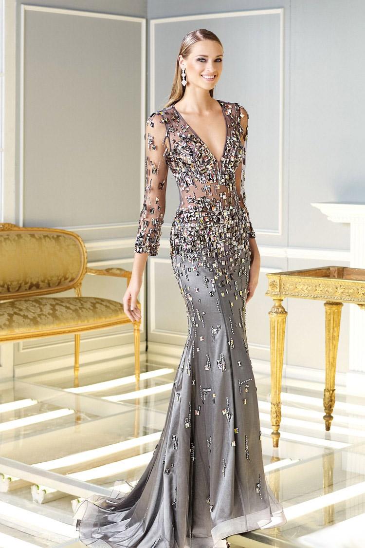 платья вечерние длинные из шелка