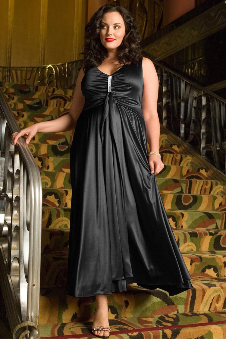 длинное вечернее платье для крупных