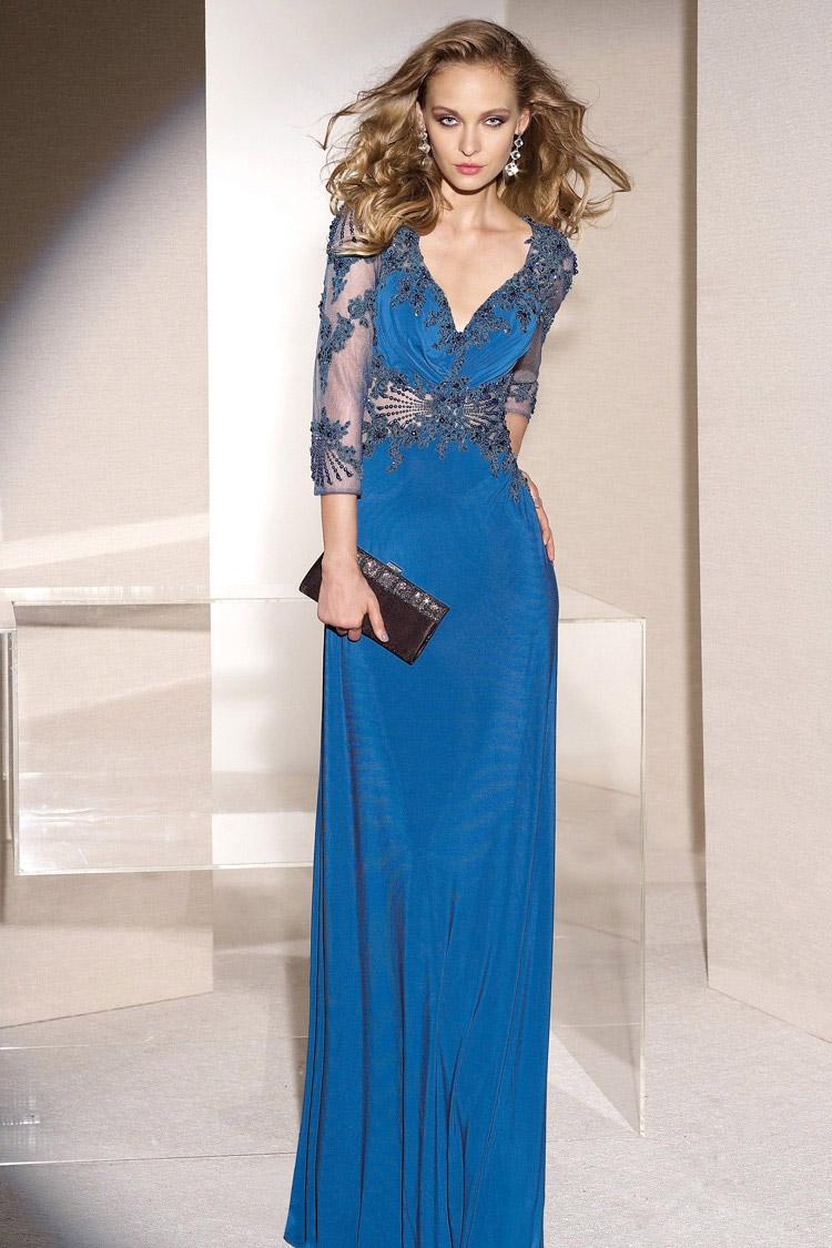 длинное вечернее платье ампир