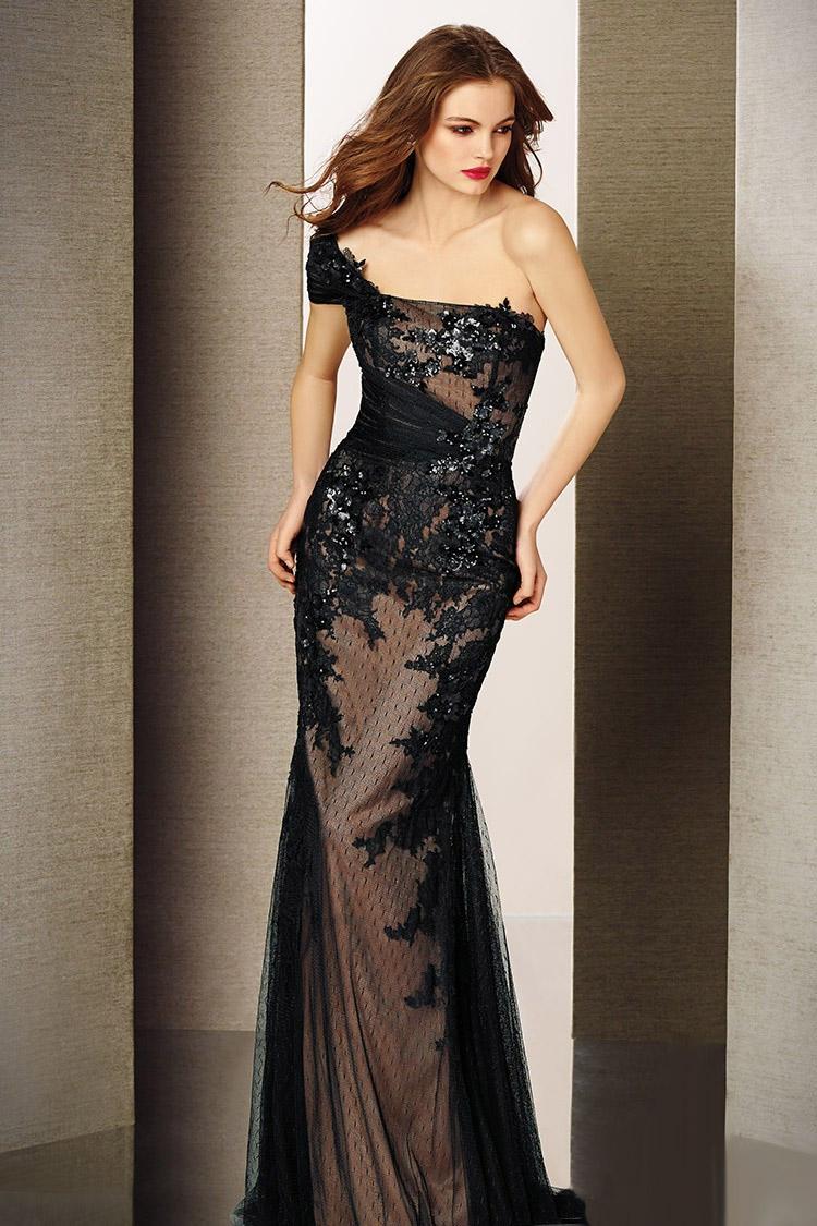длинное вечернее платье в пол с разрезом