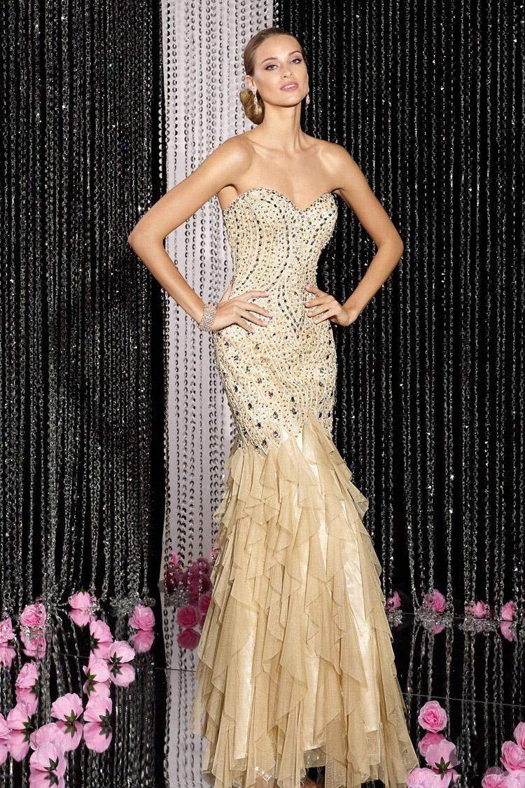 длинное вечернее платье персиковое