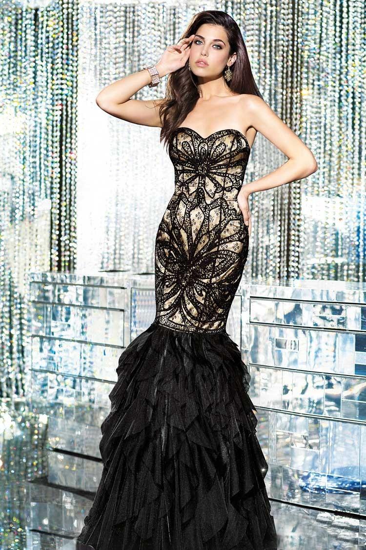 длинное вечернее платье прозрачное