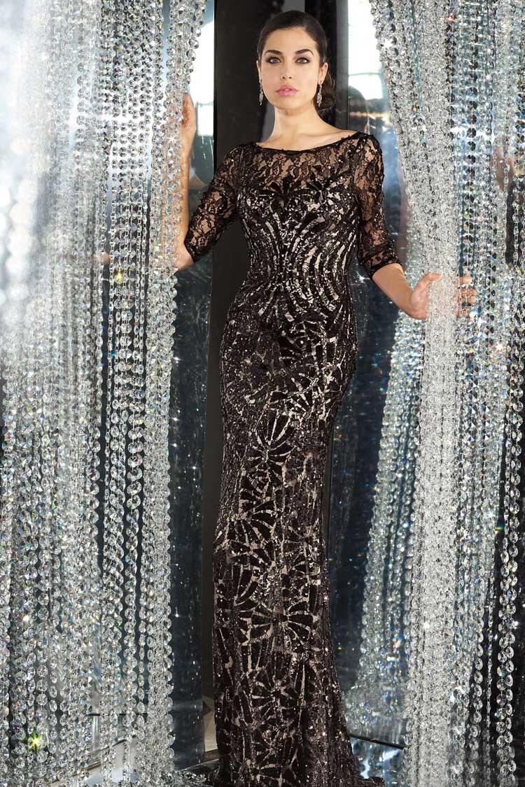 длинное вечернее платье приталенное