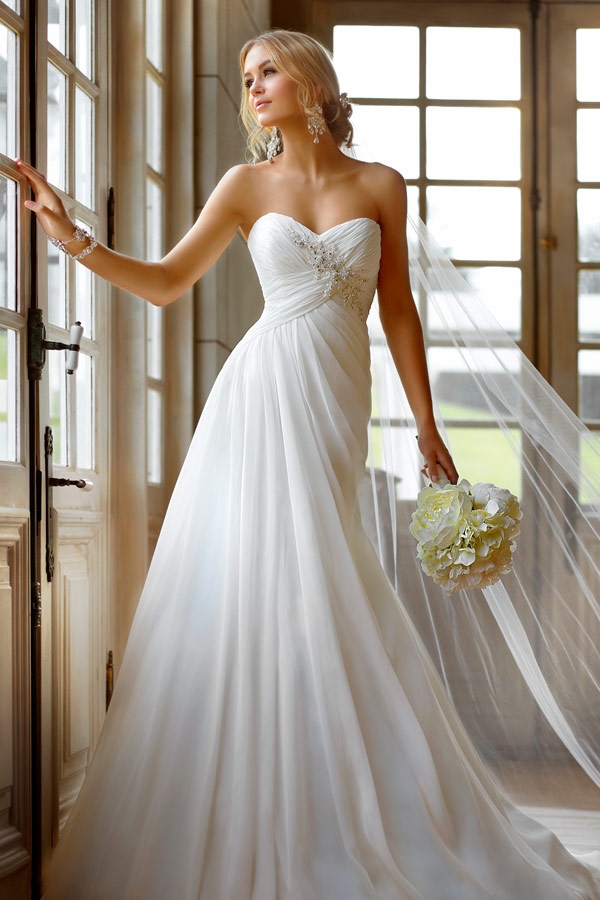 свадебное платье в стиле Empire