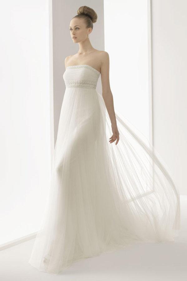 красивое платье Ампир для свадьбы в греческом стиле