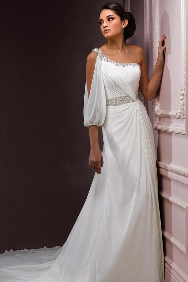 красивое платье для свадьбы в греческом стиле
