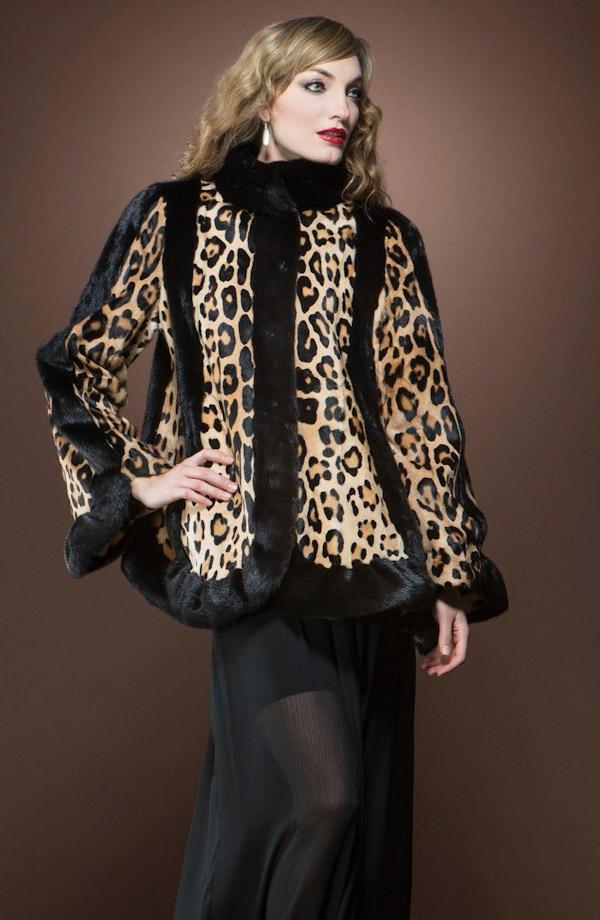 норка с леопардовым принтом