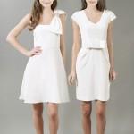 короткое свадебное платье строгом стиле