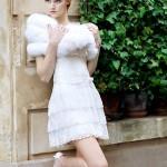 короткое свадебное платье с мехом