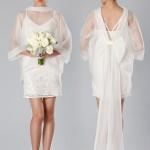 короткое свадебное платье с бантом