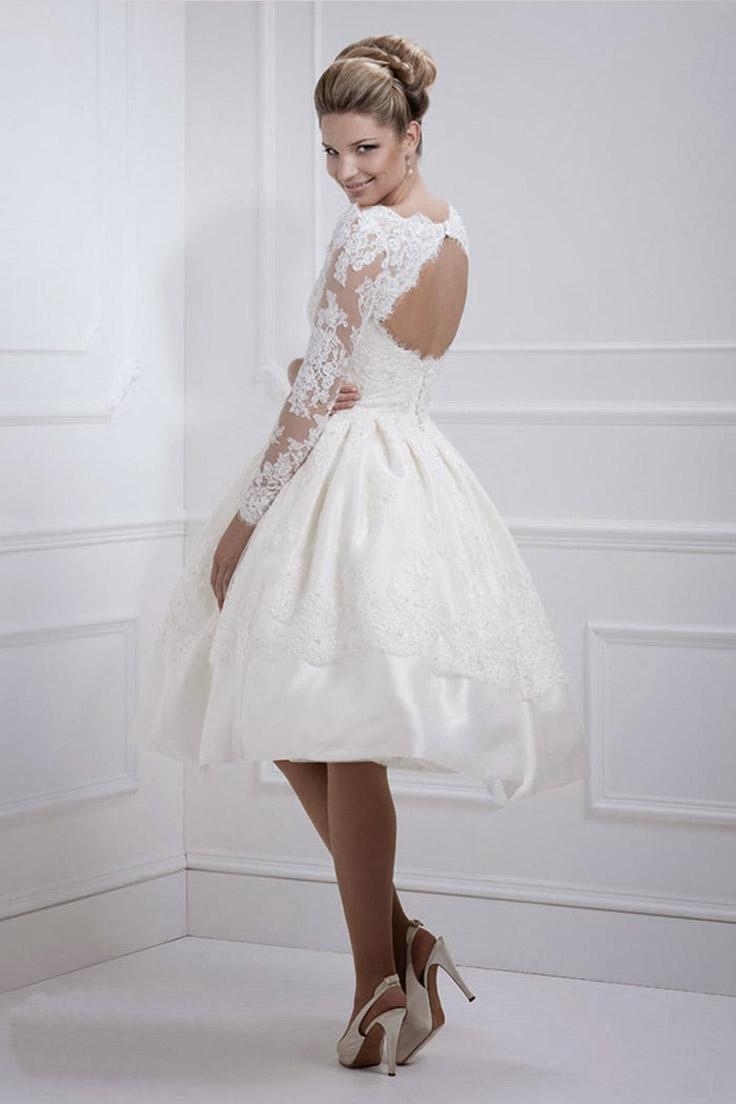 короткое свадебное платье; короткое свадебное платье сезона 2015