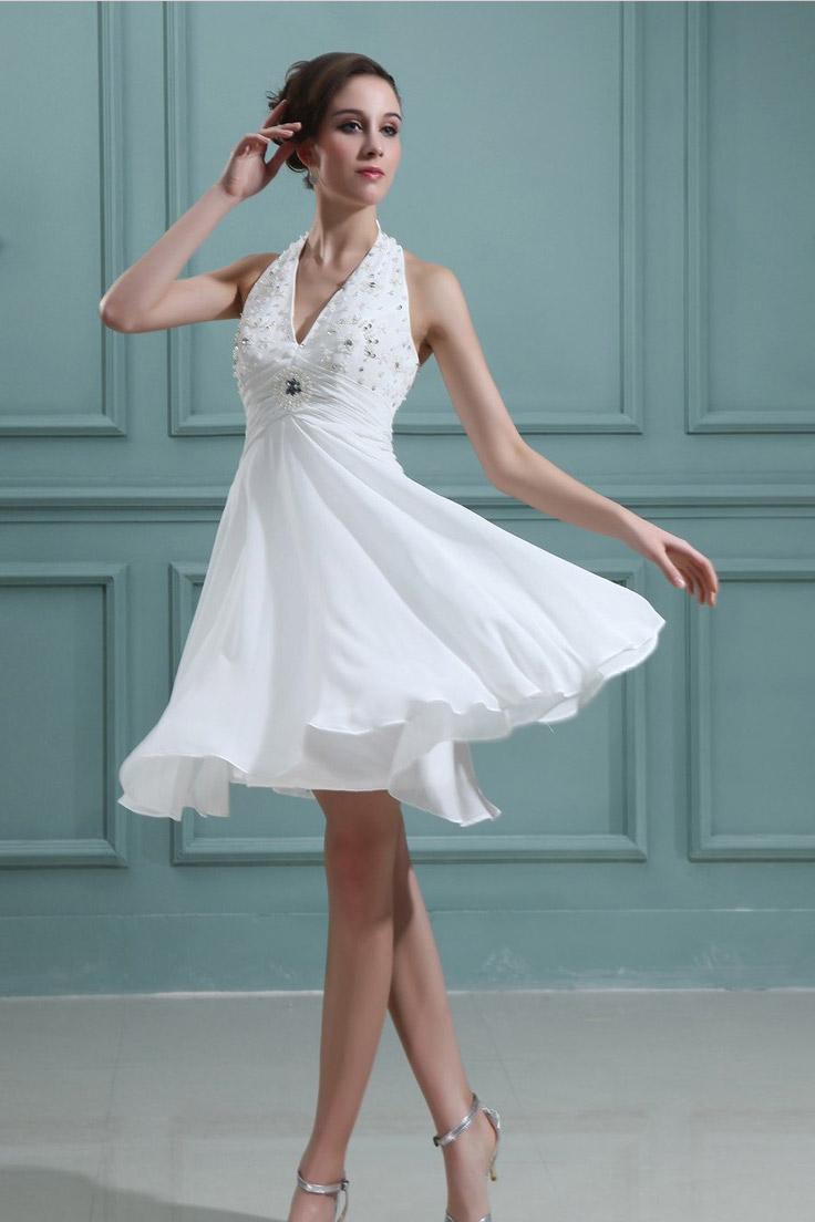 короткое свадебное платье с шлейфом