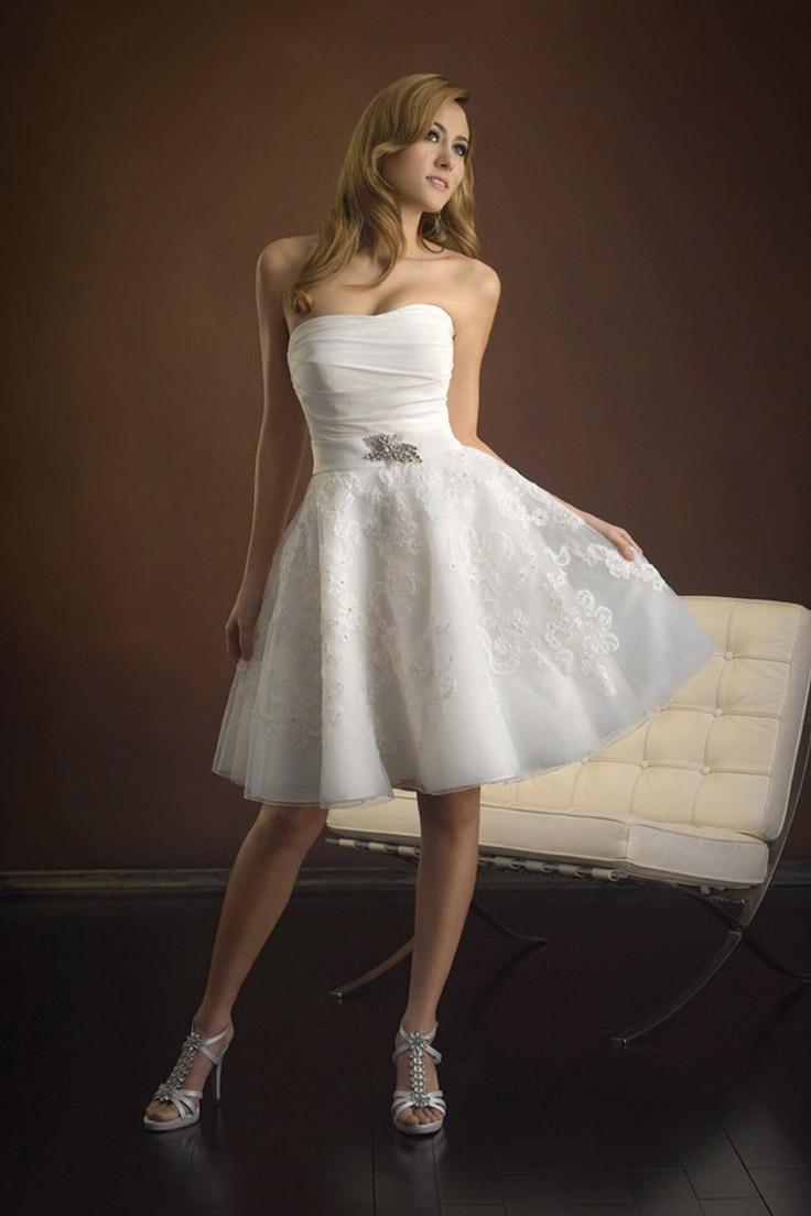 короткое свадебное платье сезона 2016
