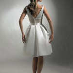 строгое короткое свадебное платье