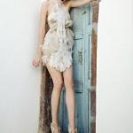 дизайнерское короткое свадебное платье