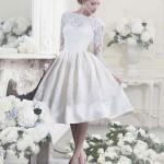 винтажное короткое свадебное платье