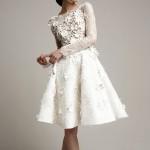 красивое короткое платье невесты