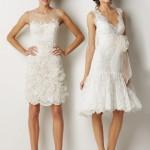 белое короткое платье невесты