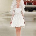 короткое свадебное платье с фатой