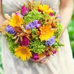 букет невесты с полевыми цветами