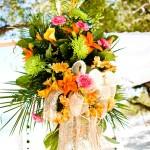 пляжный букет невесты