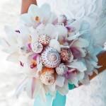 свадебный букет из тропических цветов