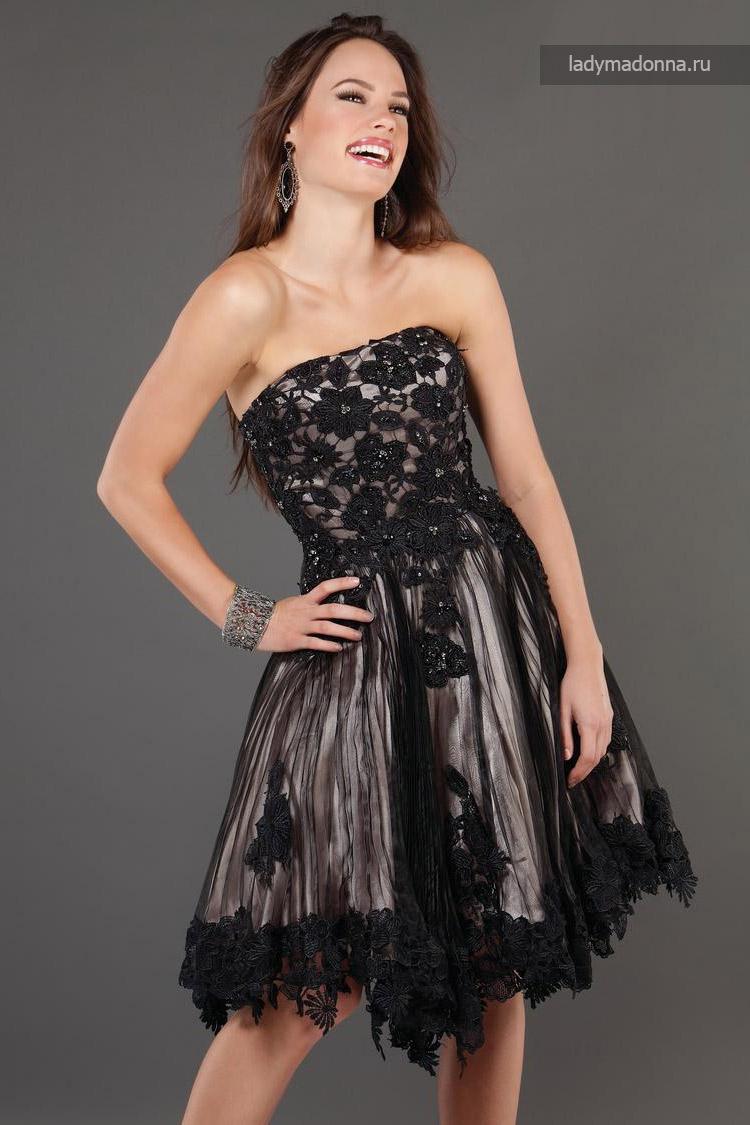 коктейльное платье с пышной короткой юбкой