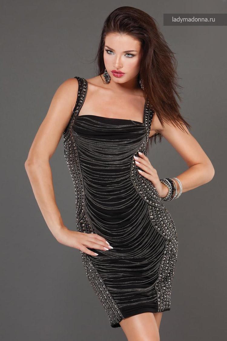 простое коктейльное платье
