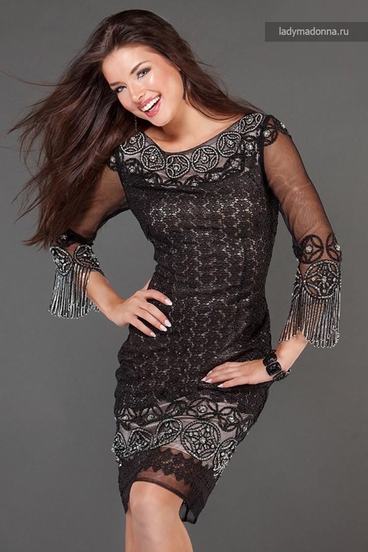 коктейльное платье с рукавами