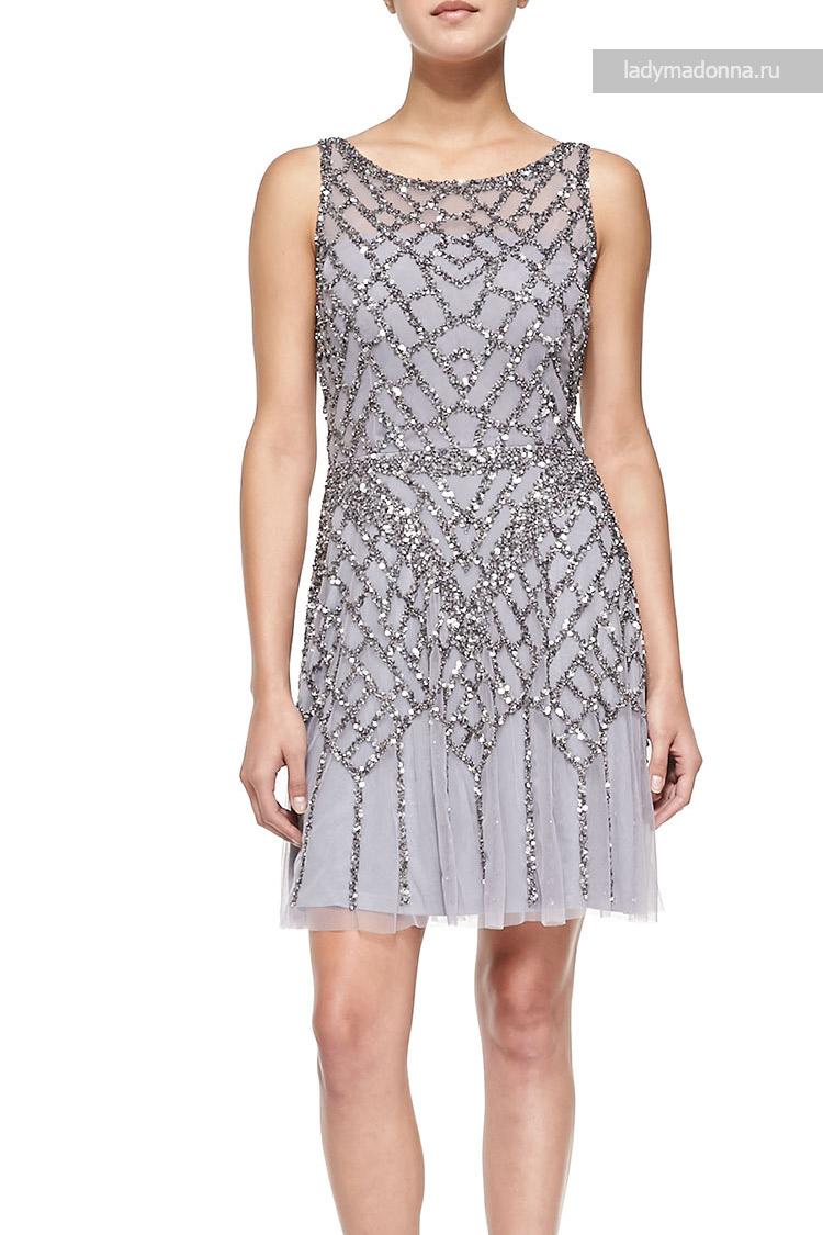коктейльное платье с блестками